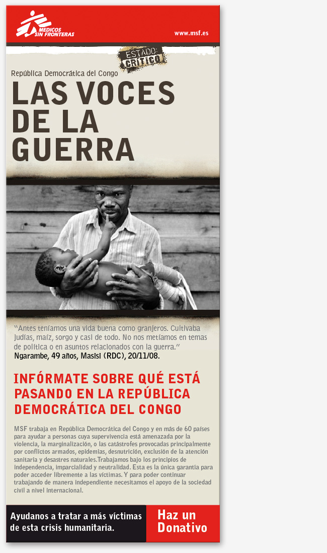 Campaña de e-mail marketing para MSF: Estado crítico en la República del Congo