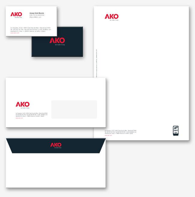 Restyling del logotipo, imagen de marca y product branding de la multinacional AKO ako_papeleria-Diseño del logotipo y product branding de AKO- iamgen corporativa